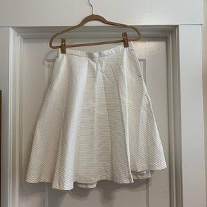 Zara Basic White Full Skirt Sz. M